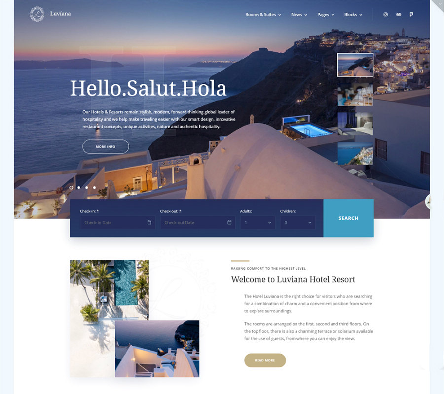 Luvianna Hotel WordPress Theme