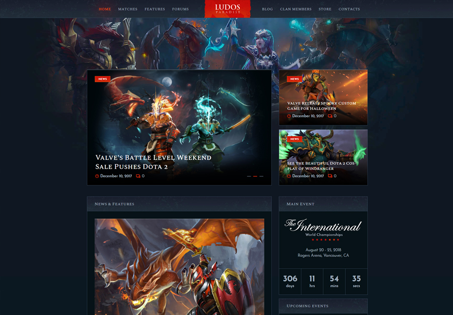 Ludos Paradise   Video Gaming Blog & Clan Esports WordPress Theme