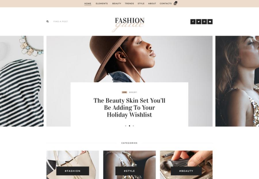 Fashion Guide   Online Magazine & Lifestyle Blog WordPress Theme