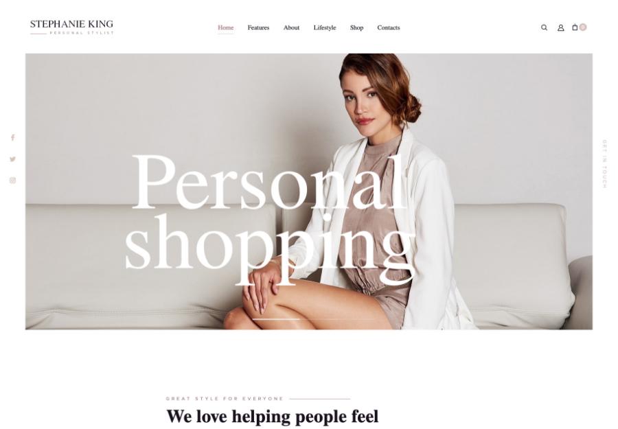 S.King | Personal Stylist and Fashion Blogger WordPress Theme