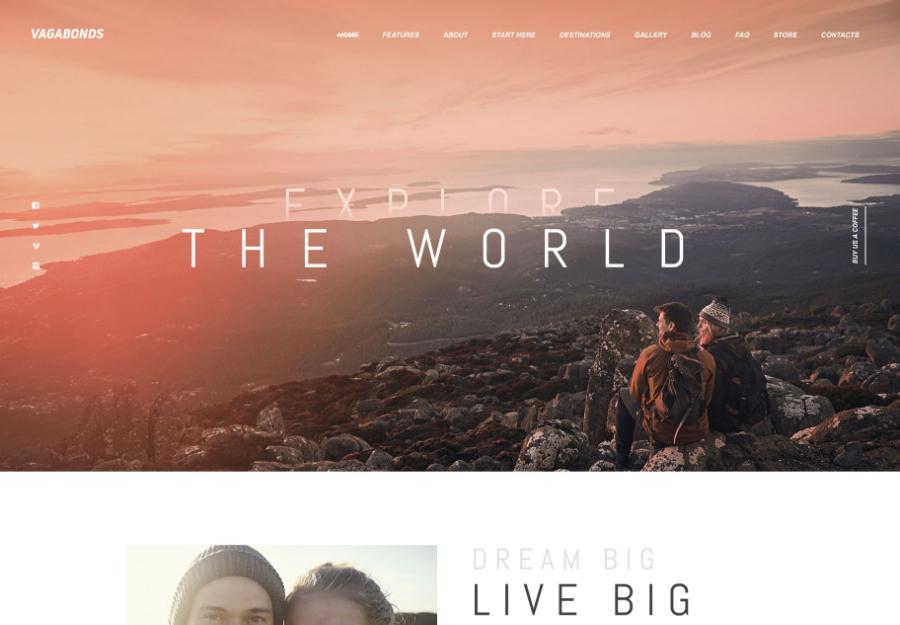 Vagabonds   Personal Travel & Lifestyle Blog WordPress Theme