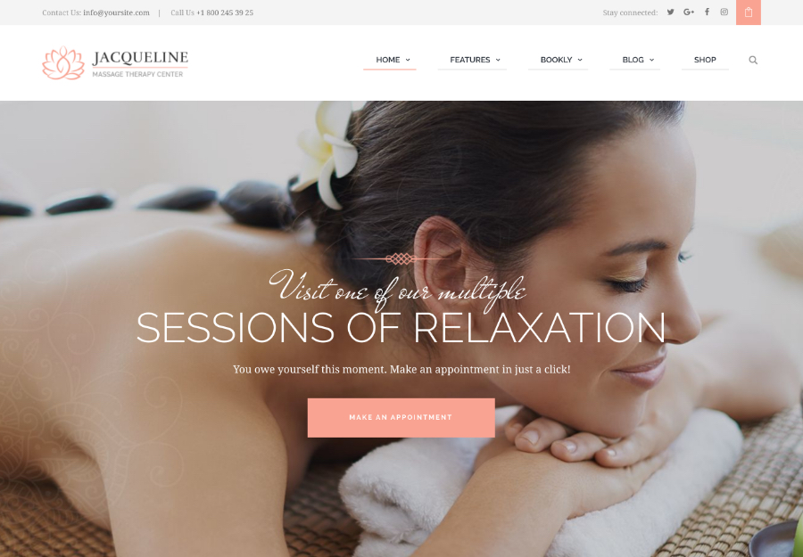 Jacqueline | Spa & Massage Salon Beauty WordPress Theme + Elementor