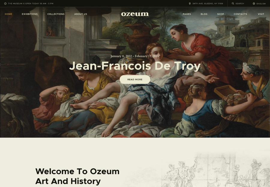 Ozeum | Modern Art Gallery and Creative Online Museum WordPress Theme