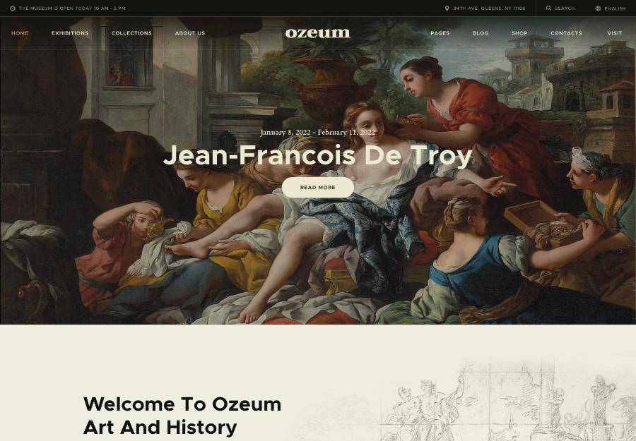 Ozeum | Modern Art Gallery and Creative Online Museum WordPress Theme