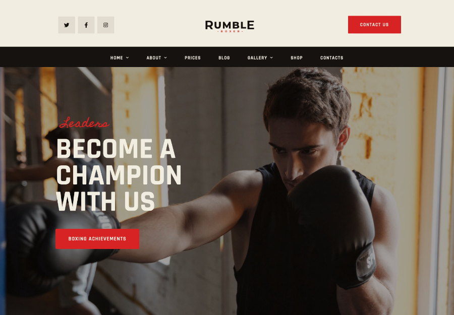 Rumble | Boxing & Mixed Martial Arts Fighting WordPress Theme