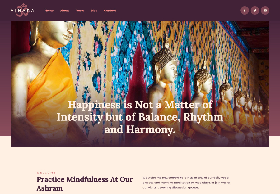 Vihara | Ashram Oriental Buddhist Temple WordPress Theme + RTL
