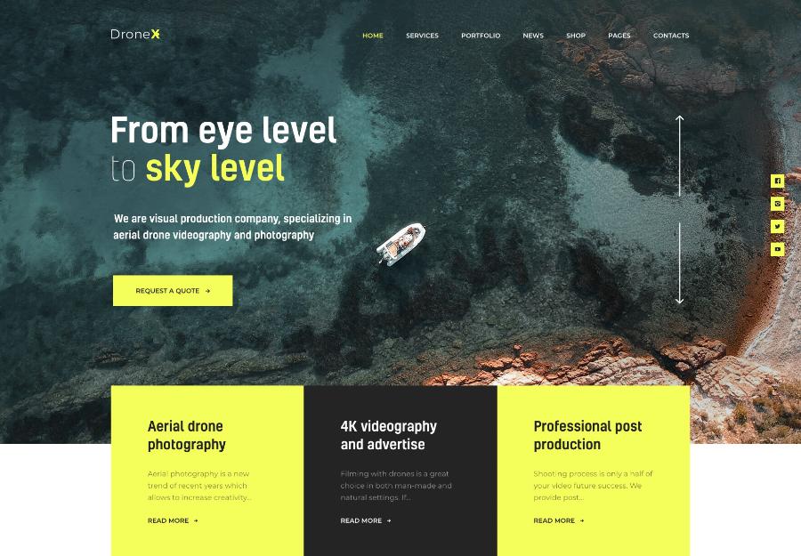 DroneX | Aerial Photography & Videography WordPress Theme