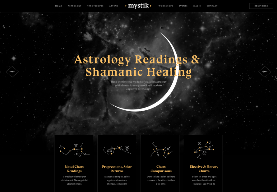 Mystik | Astrology & Esoteric Horoscope Fortune Telling WordPress Theme + RTL