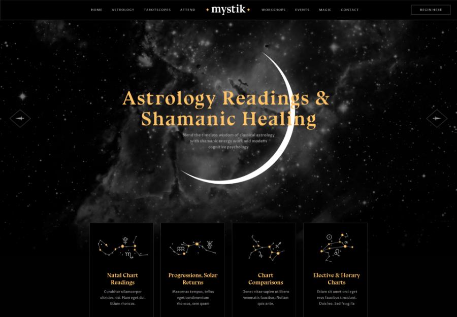 Mystik | Astrology & Esoteric Horoscope Fortune Telling WordPress Theme + RTL