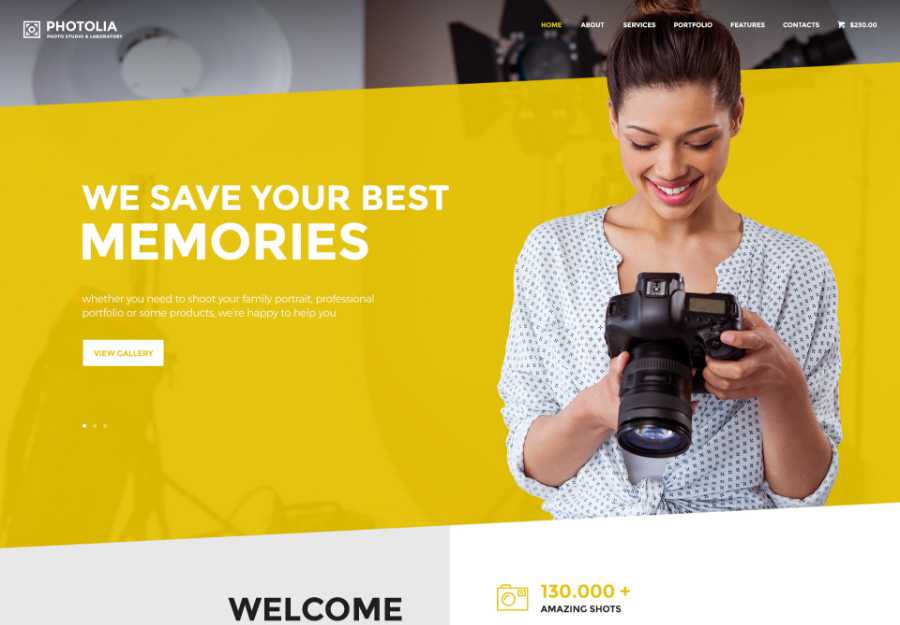 Photolia | Photo Company & Supply Store WordPress Theme