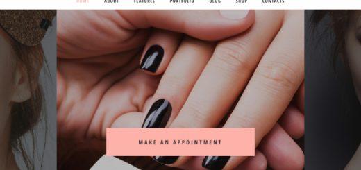nail bar WordPress themes