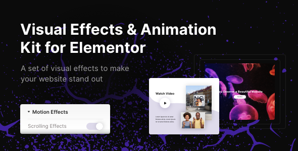 Visual Effects & Animation Kit for Elementor