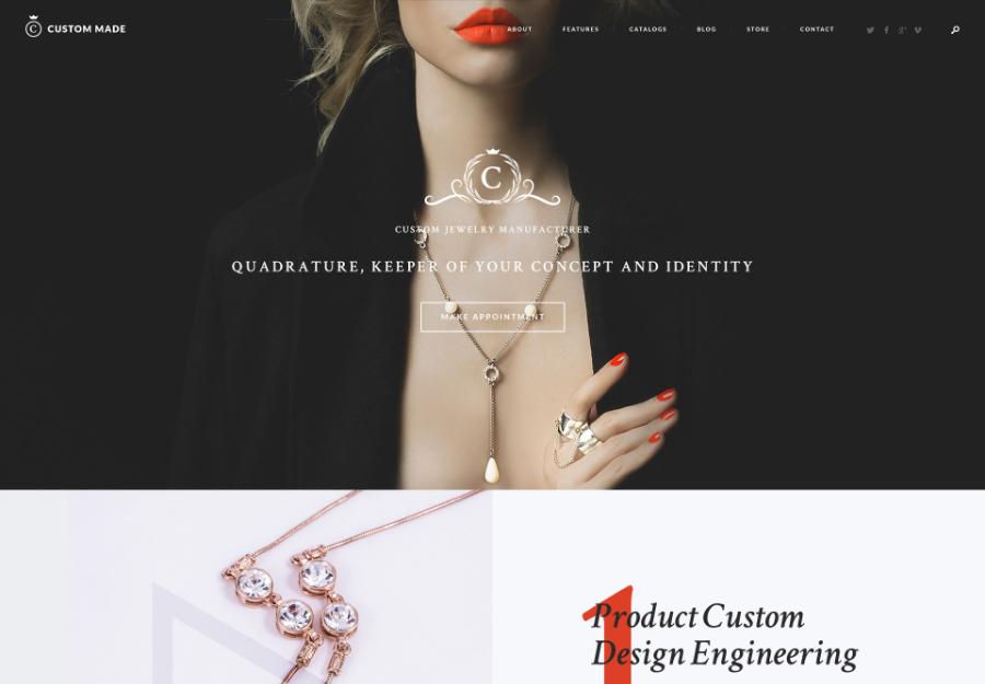 Custom Made | Jewelry Manufacturer and Store WordPress Theme