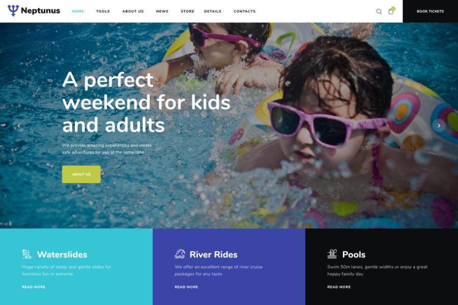 Neptunus - Water & Amusement Park WordPress Theme