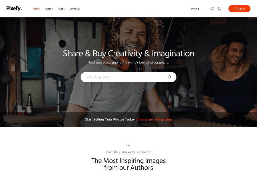 Pixefy   Stock Photography Marketplace Theme + WCFM Plugin
