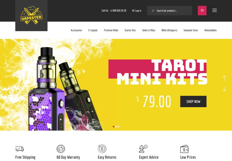 Vapester   Creative Cigarette Store & Vape Shop WooCommerce Theme