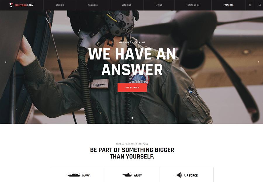 Military Service & Army Veterans Army WordPress Theme