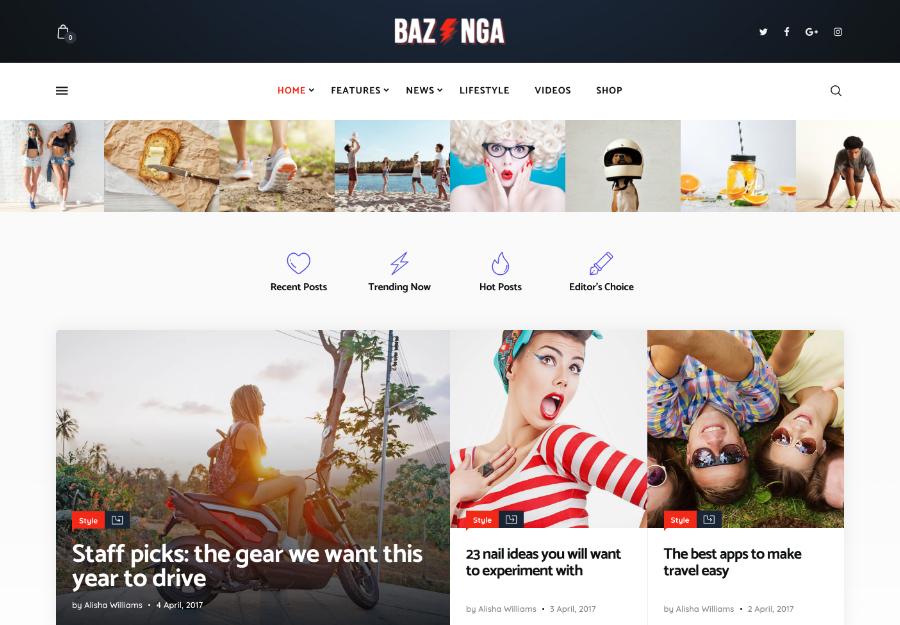Bazinga | Modern Magazine & Viral Blog WordPress Theme